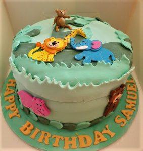 Samuel's Zoo cake